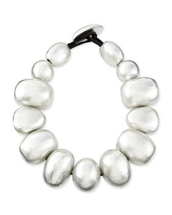 Freeform Silver Foil Bauble Necklace