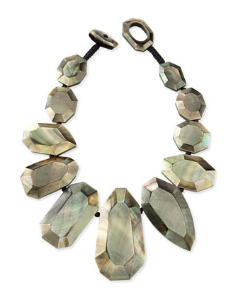 Black-Lip Mother-of-Pearl Statement Necklace