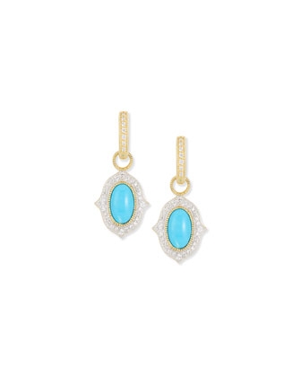Moroccan Turquoise Diamond Earring Charms