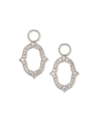 White Gold Moroccan Diamond Earring Charms