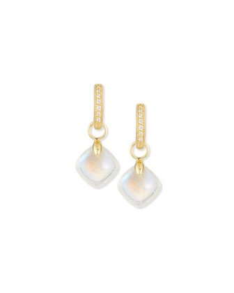 Moonstone Cushion Earring Charms