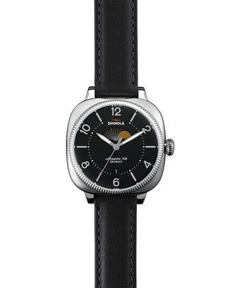 Gomelsky Moon Phase Watch, Black