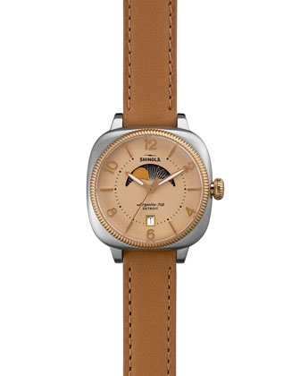 Gomelsky Moon Phase Watch, Cream