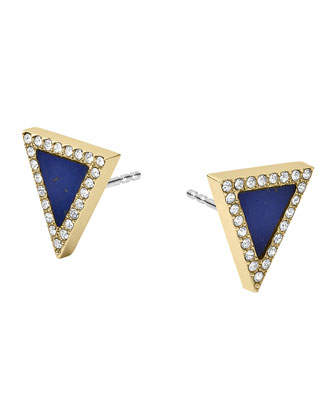 Golden Triangle Stud Earrings