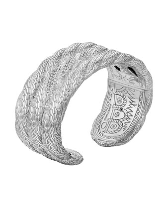 Triple Row Wide Diamond Kick Cuff, Size M