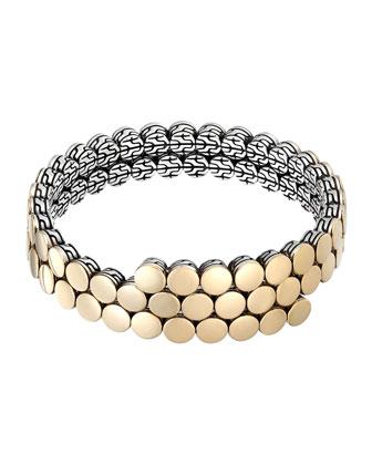 Dot 18k Gold & Silver Coil Bracelet