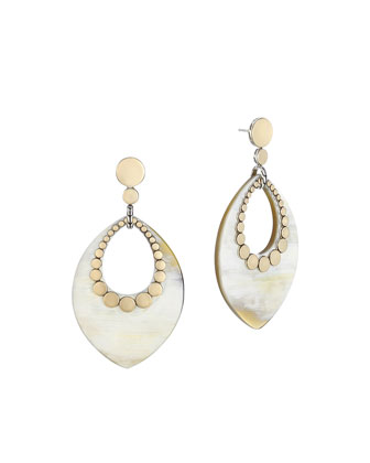 Dot Buffalo Horn Drop Earrings