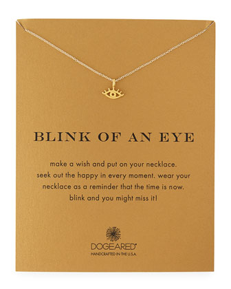 Blink of an Eye Gold-Dipped Pendant Necklace
