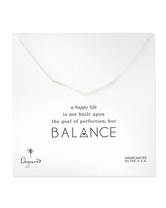Balance Wide-V Pendant Necklace, Silver