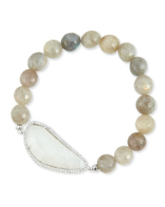 8mm Labradorite Beaded Bracelet
