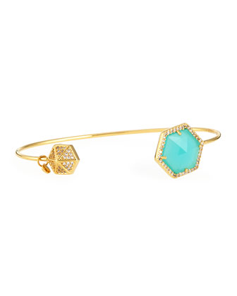 Hexagon-Tip Pinch Bracelet, Mint
