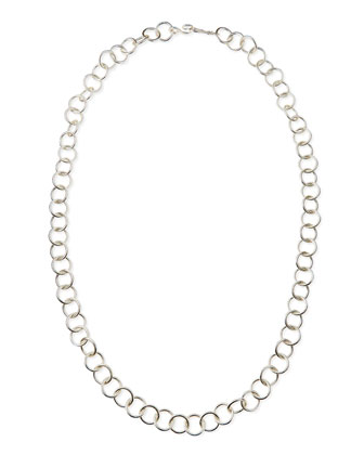 Silver-Plated Classic Chain Necklace, 42