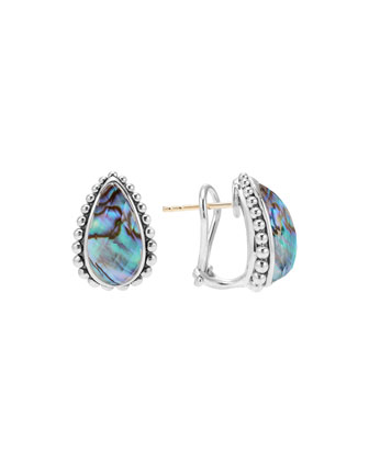 Maya Abalone Half-Hoop Earrings
