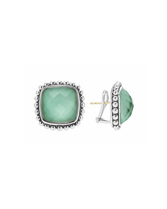 Maya Sliver Variscite Square Earrings