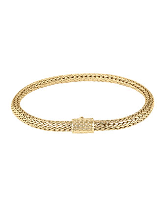 Classic Chain 18k Gold Extra-Small Bracelet