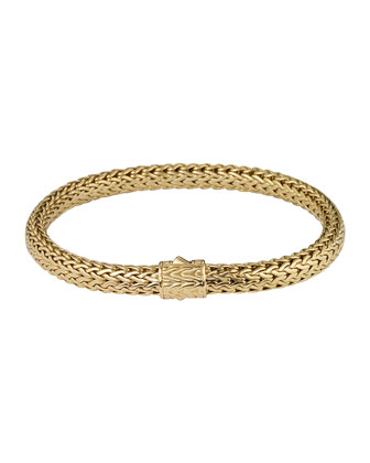 Classic Chain 18K Gold Small Bracelet