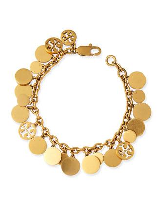 Logo-Disc Charm Bracelet