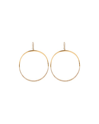 14k Large Mirage Wave Hoop Earrings