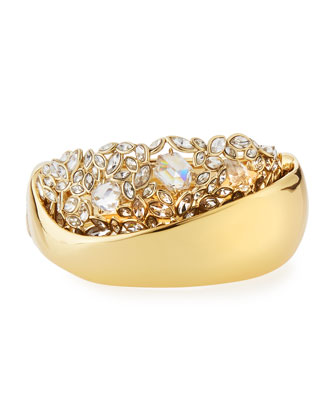 Crystal Cluster Large Hinge Bracelet