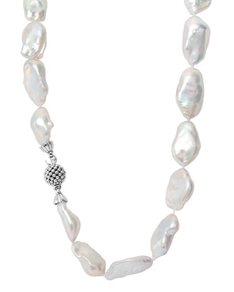Baroque Pearl Single-Strand Necklace, 23