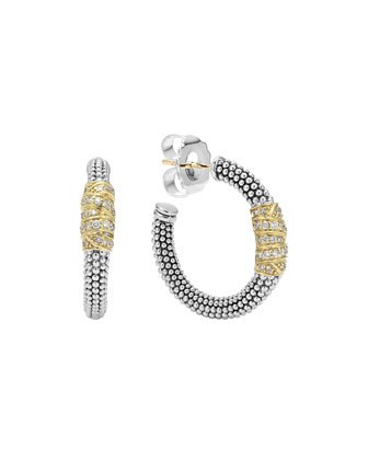 Embrace Diamond Wrapped Hoop Earrings