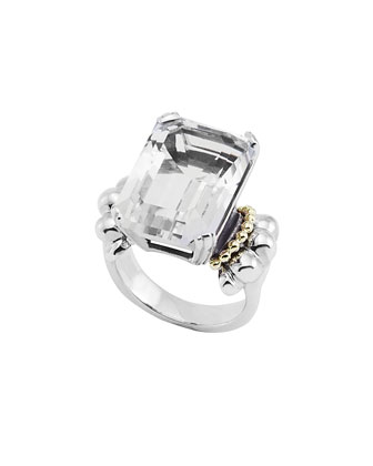 Glacier White Topaz Statement Ring