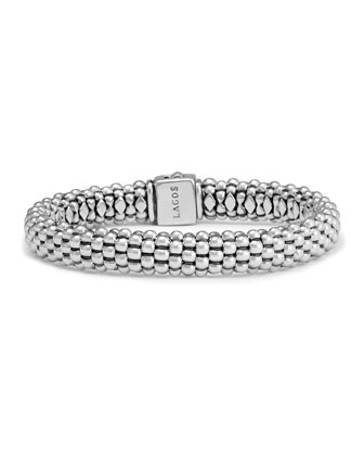Caviar Oval Rope Bracelet, 7