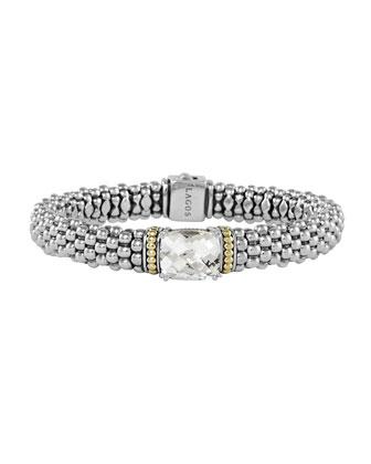 Prism White Topaz Caviar Bracelet, 9mm