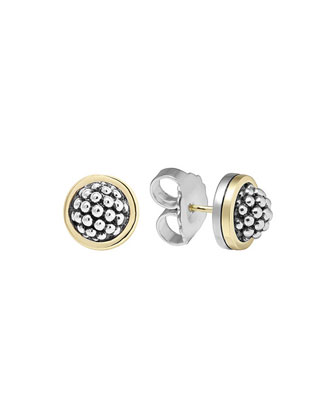 10mm Caviar Button Stud Earrings