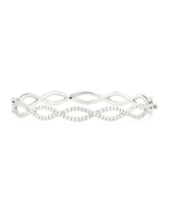 White Gold Infinity Necklace, Bangles, and Ring