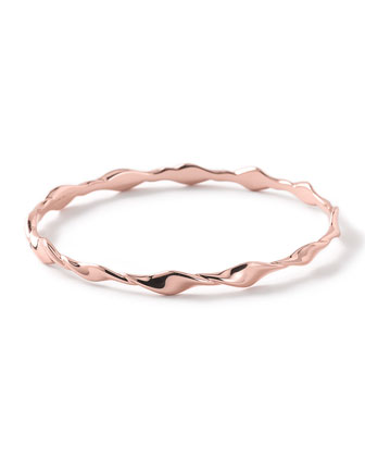Glamazon Rose Twisted Oval Bangle