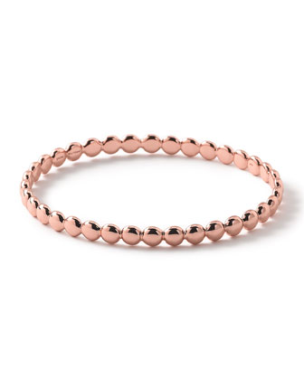 Glamazon Rose Solid Oval Bangle