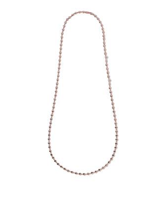 Glamazon Rose Flat Hammered Bead Necklace, 40