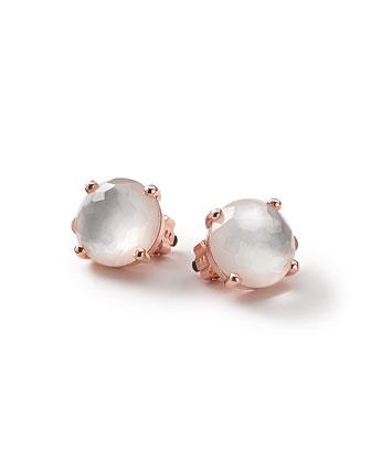 Rock Candy Rose Mini Clip-On Earrings