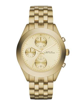 36mm Peeker Golden Chronograph Watch