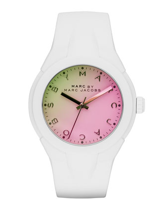 38mm X-Up Ombre Watch, Green/Pink