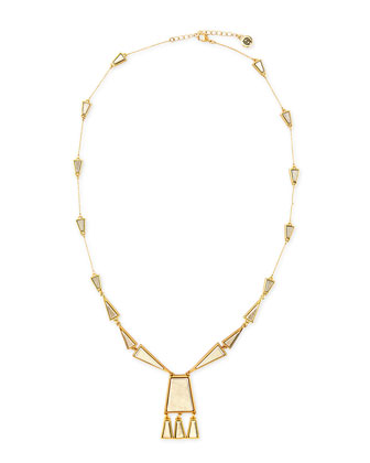 Trapezio Chandelier Pendant Necklace
