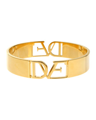 DVF Thin Logo Bangle Bracelet