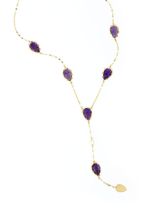 Riviera Amethyst Y-Drop Necklace