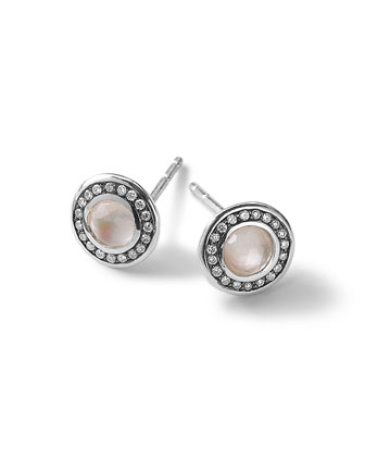Silver Lollipop Mini Stud Earrings