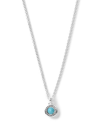 Silver Mini Lollipop Diamond Pendant Necklace