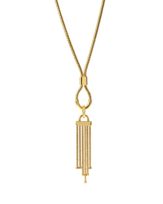 Snake Chain Tassel Pendant Necklace