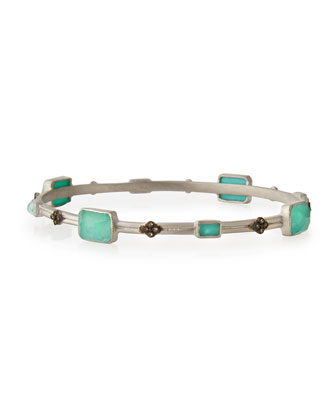 New World Turquoise & Champagne Diamond Bangle