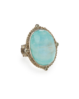 New World Oval Moonstone Ring