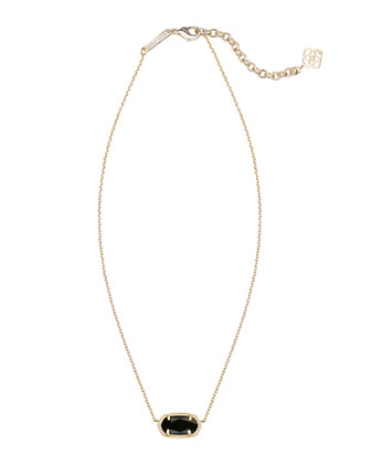 Elisa Gold-Plated Pendant Necklace