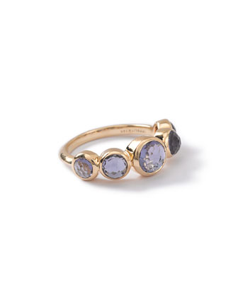18k Lollipop 5-Stone Bezel Ring