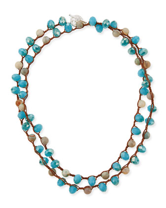 Faceted Bead Necklace, 36