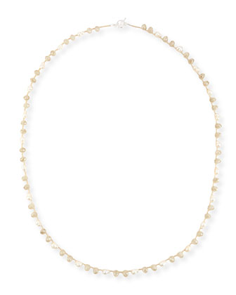 Pearl & Crystal Long Necklace, 44