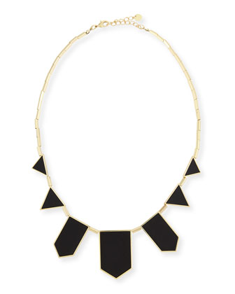 Five Station Leather Necklace