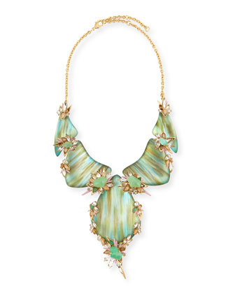 Pastel Punk Cascading Bib Necklace